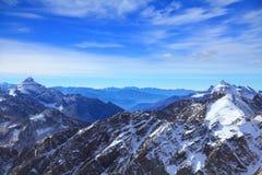 Cresta principale di Caucaso fotografia stock