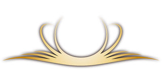 Cresta (vector) Imágenes de archivo libres de regalías
