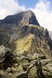 Cresta y pico de las montañas de Tatra foto de archivo