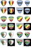 Crestas africanas del indicador Imágenes de archivo libres de regalías