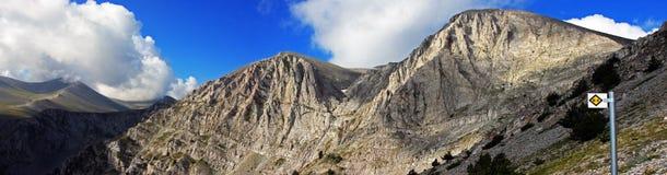 Crestas de montaña hermosas en área de montaña de Olympus foto de archivo libre de regalías
