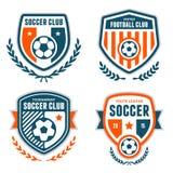 Crestas del fútbol stock de ilustración