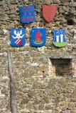 Crestas en la fortaleza de Szigliget fotos de archivo