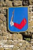 Crestas en la fortaleza de Szigliget imagenes de archivo