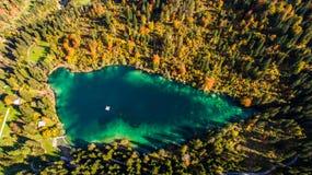 Crestasee in der Schweiz Stockbild