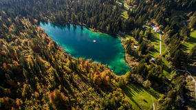 Crestasee in der Schweiz Stockfotografie