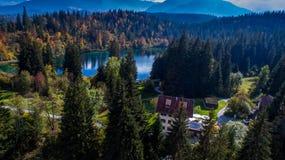 Crestasee in Switzerland royalty free stock photo