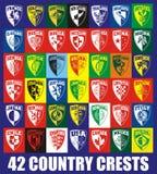 42 creste del paese Fotografie Stock Libere da Diritti