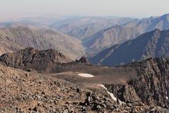 Creste della montagna nel Marocco Trekking su Toubkal Fotografia Stock Libera da Diritti