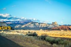 Creste della montagna nel parco di stato del bacino di Kodachrome, Utah immagini stock