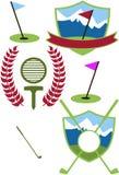 Creste di golf Fotografia Stock Libera da Diritti