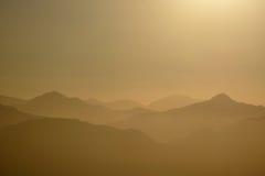Creste dorate del San Gabriel Mountains National Monument Fotografia Stock Libera da Diritti
