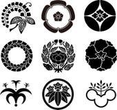 Creste giapponesi della famiglia Immagini Stock