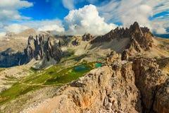 Creste Hackly della montagna, dolomia, Italia Fotografia Stock Libera da Diritti