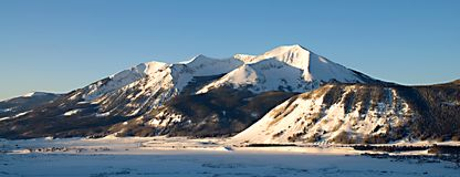 Crested Butte. Morning view of mountains in Crested Butte royalty free stock photography