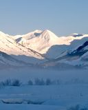 Crested Butte. Morning view of mountains in Crested Butte stock photos