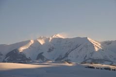 Crested Butte. Morning view of mountains in Crested Butte Stock Image