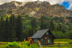 Crested Butte Cabin. Cabin in Colorados beautiful Crested Butte stock image