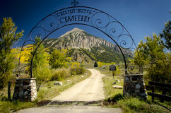 Crested Butte Cemetary Entrance. Entrance to Crested Butte Cemetery during the fall Royalty Free Stock Photography