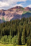 Crested butte colorado mountain landscape. Top travel tourist vacation destination in the colorado rockies. crested butte is located in the south central Royalty Free Stock Photos