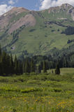 Crested Butte Colorado Rocky Mountains. Mountain nature landscape located in crested butte Colorado, one of the top vacation destinations in the Colorado Rockies Royalty Free Stock Image