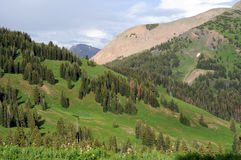 Crested Butte -- Mountain Slopes Stock Photo