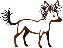 Crested Chinese Dog. Stylized illustration of a chinese crested Royalty Free Stock Photography