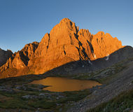 Crestone Peak In Early Morning Light Royalty Free Stock Photography