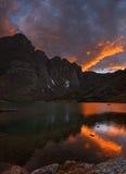 Crestone Sunset Royalty Free Stock Photo