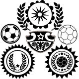 crests вектор спортов футбола иллюстрации Стоковые Фото