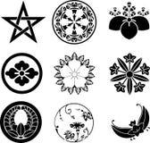 crests японец семьи Стоковые Фото