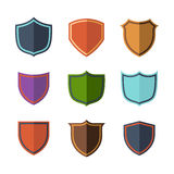 Crests flat design set over white background Royalty Free Stock Images