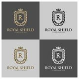 Crests logo, Hotel logo, luxury letter monogram. Vector logo design, Fashion brand identity, Vector logo template Royalty Free Stock Images