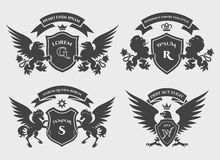 Crests logo set Royalty Free Stock Image