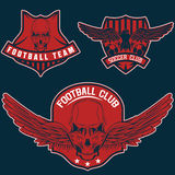 Crests set with eagles and skulls Stock Photography