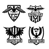 Crests set with eagles vector design template Stock Photo