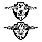 Crests set with eagles vector design template Royalty Free Stock Images