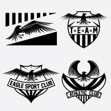 Crests set with eagles vector design template Royalty Free Stock Photo