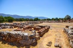 Creta condujo las excavaciones Mali Palace imagen de archivo libre de regalías