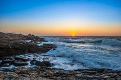 Creta do nascer do sol do Seascape, Grécia fotografia de stock royalty free