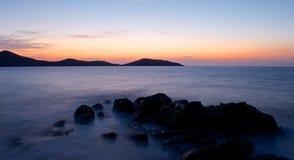 Creta en la puesta del sol imagen de archivo