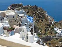 18 06 2015, CRETA, GRÉCIA Arquitetura da cidade e azul bonitos românticos Foto de Stock Royalty Free