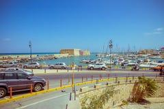 Creta Heraklion 25 de agosto: Fortaleza veneciana Koules Fotografía de archivo