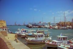 Creta Heraklion o 25 de agosto: Fortaleza Venetian Koules Foto de Stock Royalty Free