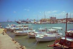 Creta Heraklion o 25 de agosto: Fortaleza Venetian Koules Fotos de Stock