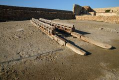 Creta o estaleiro velho Imagem de Stock