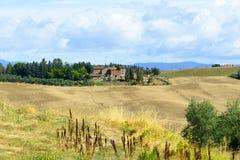 Creta Senesi (Toscana, Italia) Immagine Stock