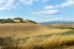 Creta Senesi (Toscana, Italia) Immagini Stock Libere da Diritti