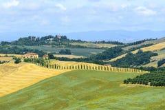 Creta Senesi (Toscana, Italia) Foto de archivo libre de regalías