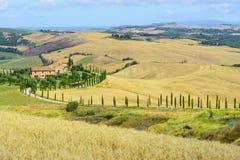 Creta Senesi (Toscana, Italia) Imagenes de archivo